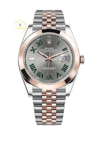 Rolex Datejust 41 Steel and Everose Gold Wimbledon Dial - 2021