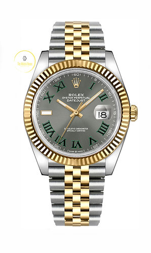 Rolex Datejust 41 Steel and Yellow Gold Wimbledon Dial - 2020