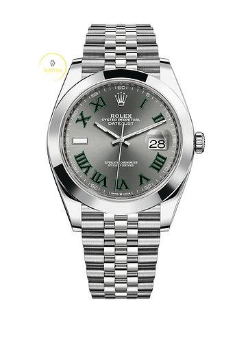 Rolex Datejust 41 Wimbledon Dial - 2021