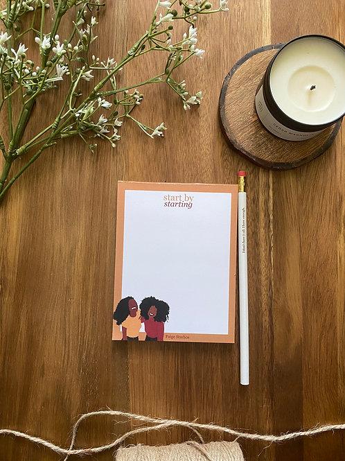Notepad + Pencil Set