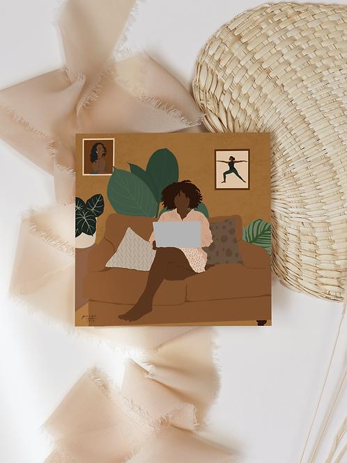 At Home (5x5 Print)