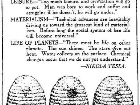 Nikola Tesla Newspaper article