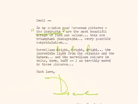 Diana Vreeland memo to Cecil Beaton