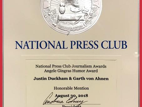 National Press Club Award Ceremony