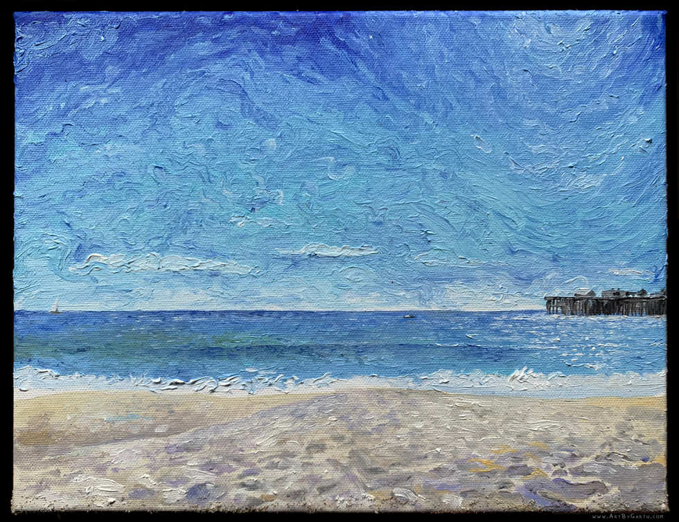 Seabright Beach on a Windy Day