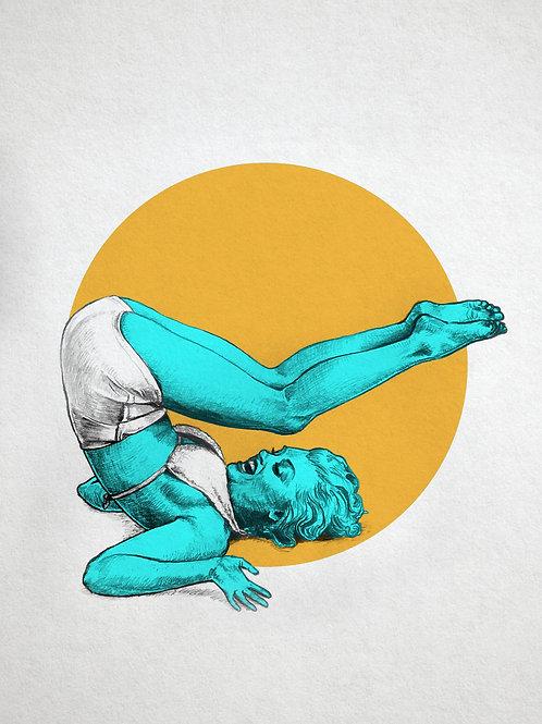 Marilyn Yoga II Print