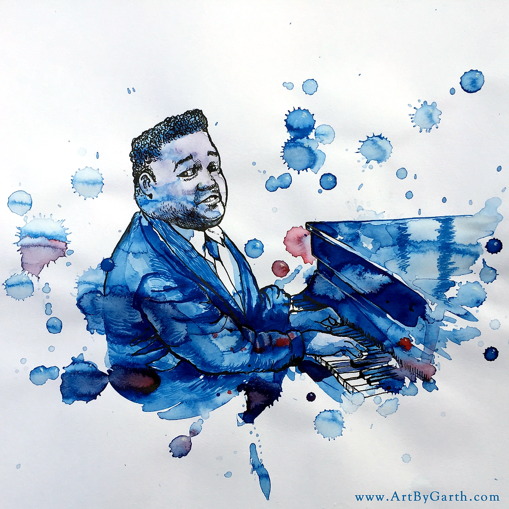 Portrait of Fats Domino