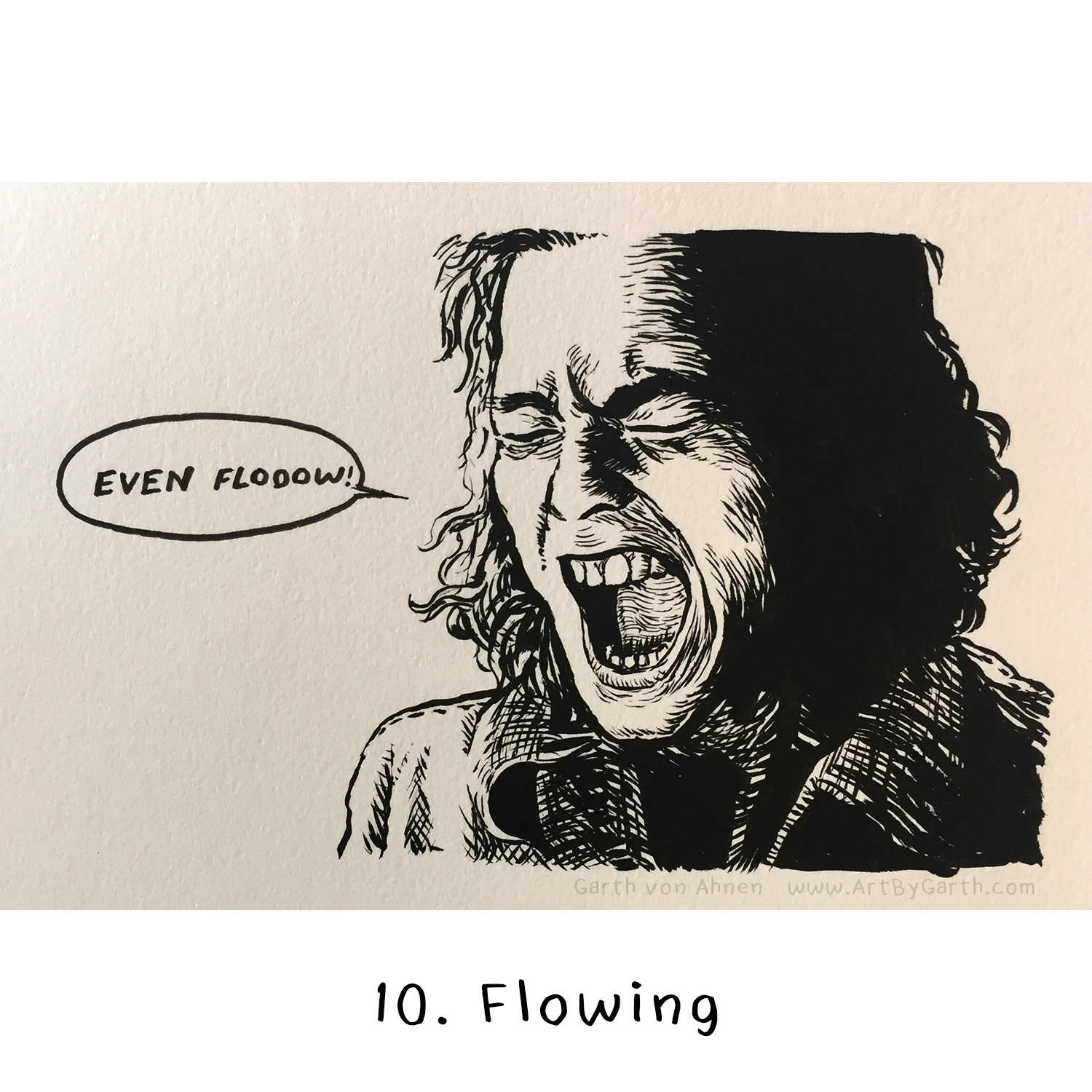 Inktober Day 10 - flowing