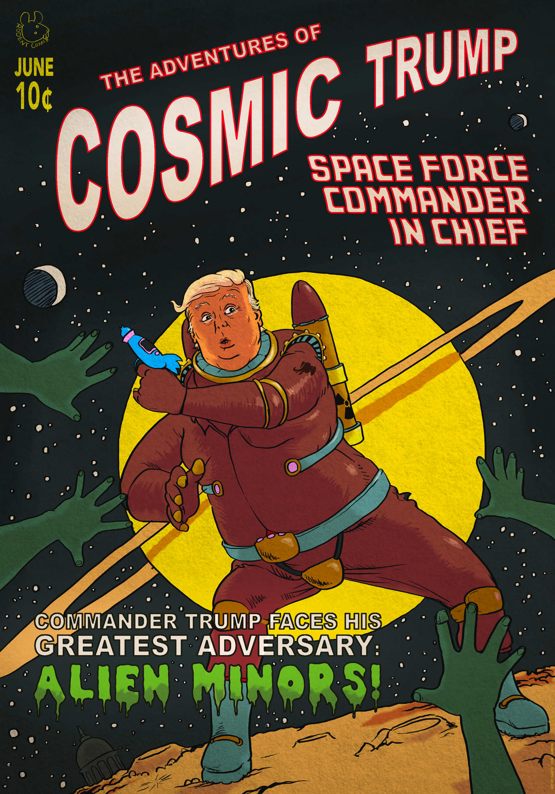 Cosmic Trump 50s Comic