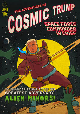 Cosmic Trump 50s Comic