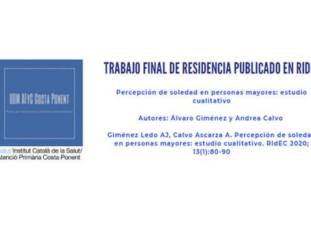 Publicado trabajo final de residencia de EFyC
