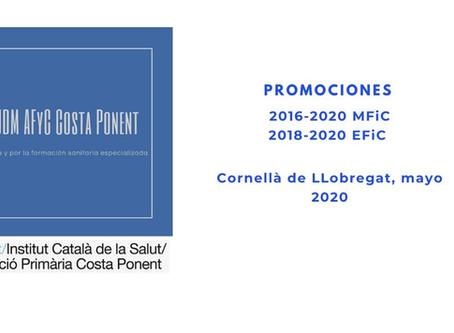 Promociones MFIC 2016-2020 y EFIC 2018-2020