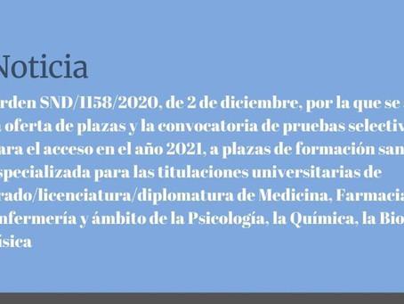 Convocatoria EIR/MIR 2020