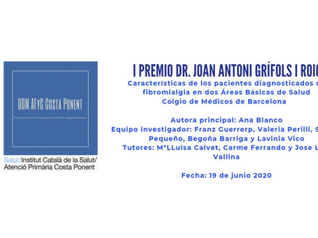 I Premio Dr. Joan Antoni Grífols i Roig