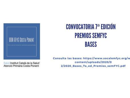 Convocatoria 7ª edición premios SEMFYC
