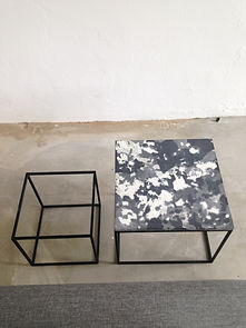 hannabi concrete marble small table