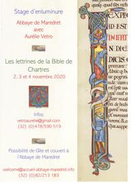 Affiche Maredret 2020 Bible de Chartres-
