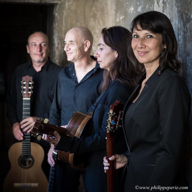 Projet avec le Quatuor de guitares Ophris