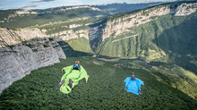 Wingsuit, Fond de Cirque à Presles avec JeanPhi et Igor