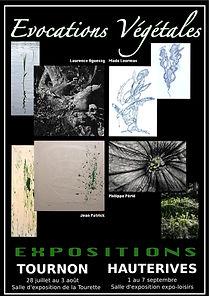 Exposition photographie d'art Evocations Végétales à Tournon et Hauterives