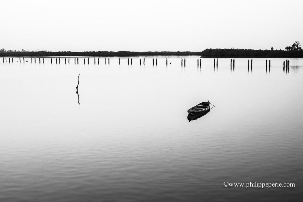 Philippe Périé, barque dans le delta du Sine Saloum, Sénégal