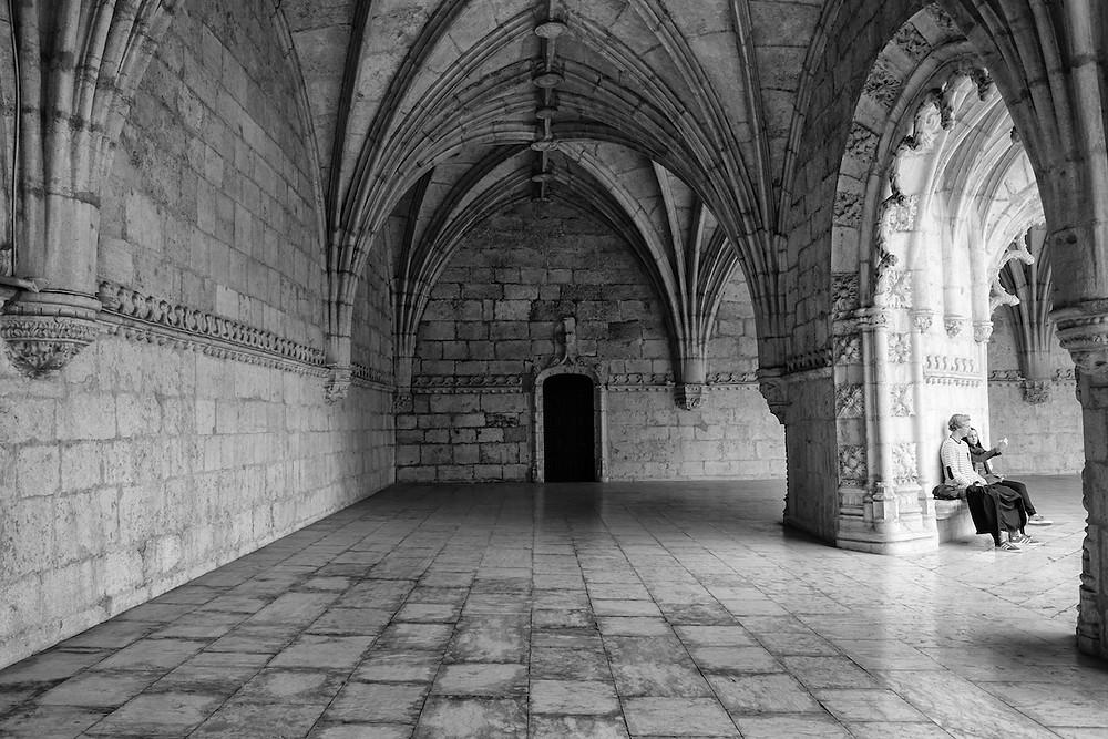 A l'intèrieur du Mosteiro dos Jerónimos dans le quartier de Bélem, Lisbonne