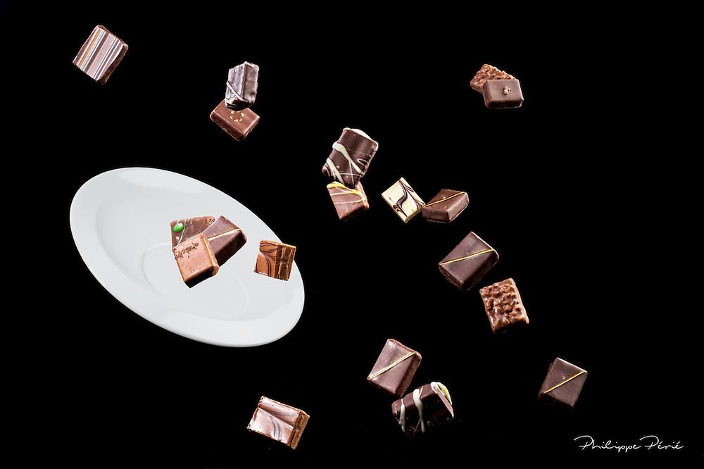 Explosion de chocolats fins - Chocolaterie Llanas à Tournon Sur Rhône