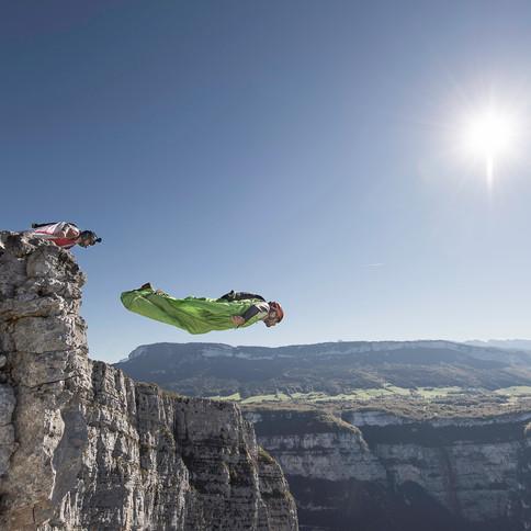 Wingsuit dans le Vercors