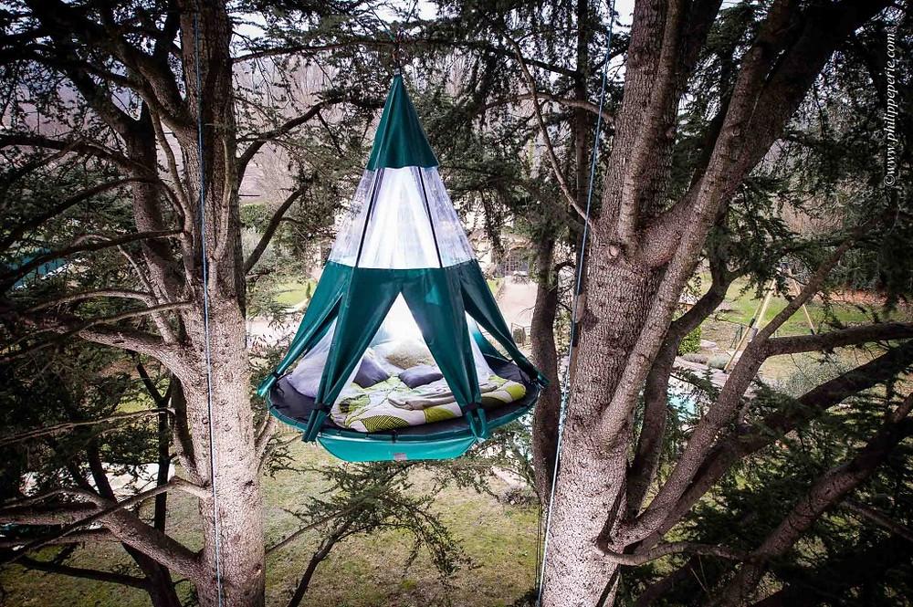 Philippe Périé pour SelvaO.com, la pendola suspendue dans les arbres