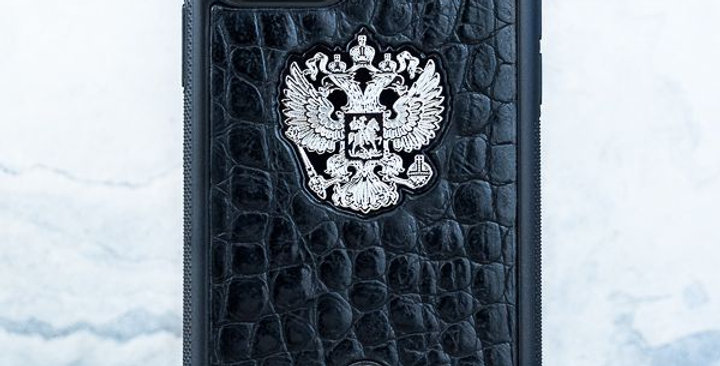 Premium iPhone Герб РФ MiniCroc Leather