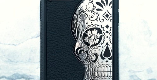 Mexican Katrina's Skull Leather Black