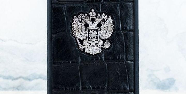 Premium iPhone Герб РФ Croc Leather