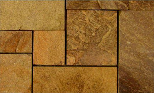 плитка из серо-рыжего песчаника