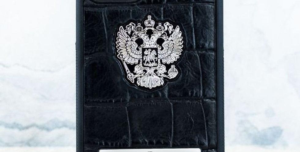 Именной чехол с Гербом РФ Euphoria Premium CROC