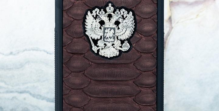 Премиальный чехол с гербом с кожей питона - Euphoria hm