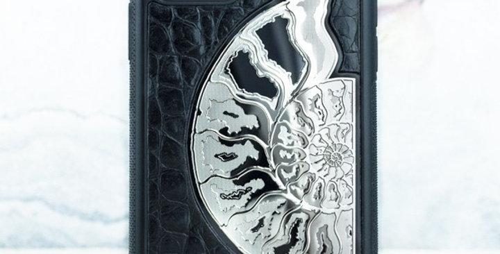 Эксклюзивный чехол iphone 12 pro натуральная кожа Euphoria HM Ammonit