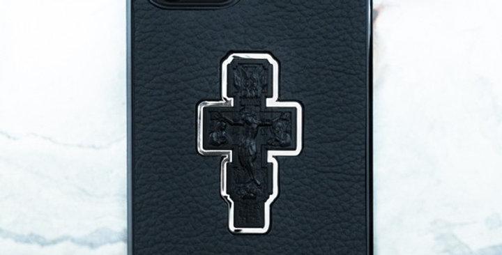 Чехол iPhone с распятием из натуральной кожи Euphoria HM Premium
