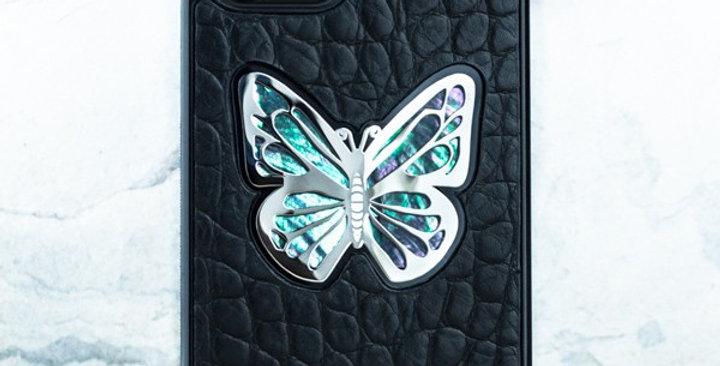 Премиум чехол iphone 12 pro из натуральной кожи, перламутра, ювелирного сплава