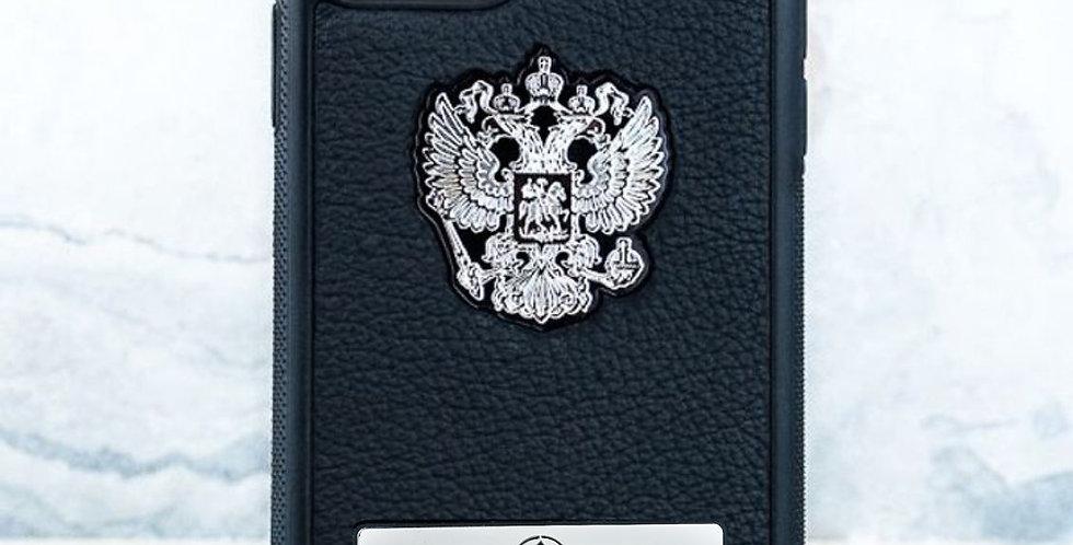 Именной чехол с Гербом РФ Euphoria Premium Black