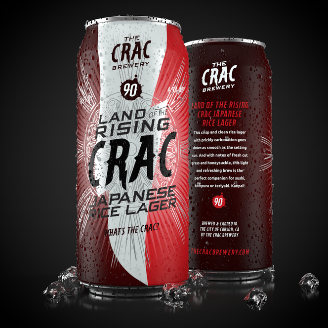 LAND OF THE RISING CRAC RICE LAGER