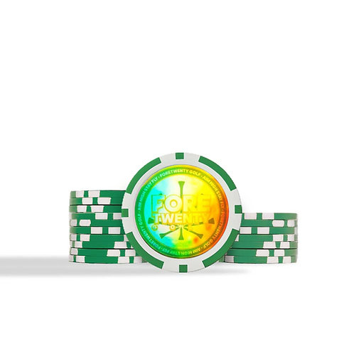 FORETWENTY GOLF ACCESSORIES - Masters Green - Rainbow Hologram Ball Markers