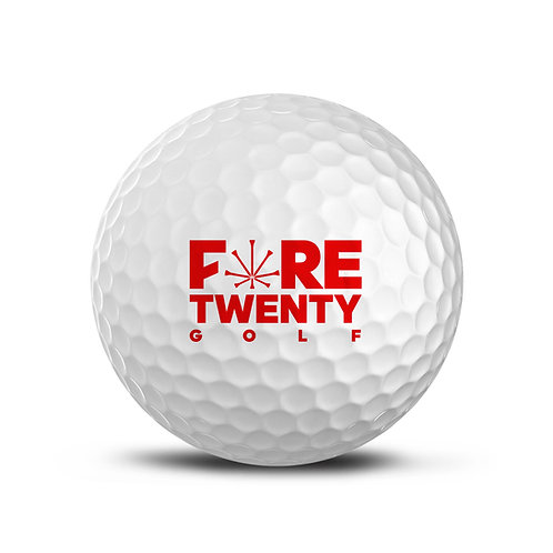 FORETWENTY GOLF X CUTGOLF BALLS - CUT RED -1 TUBE
