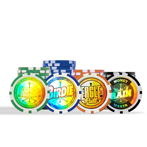 FORETWENTY GOLF ACCESSORIES - Rainbow Hologram Ball Markers - Pack