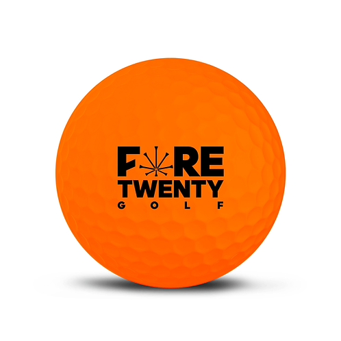FORETWENTY GOLF X CUTGOLF BALLS - CUT ORANGE -1 DOZEN