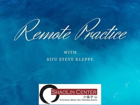 Remote Practice | Sun Style Tai Chi Chuan