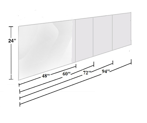Specialty Protective Panels - Special precut height and lengths as low as