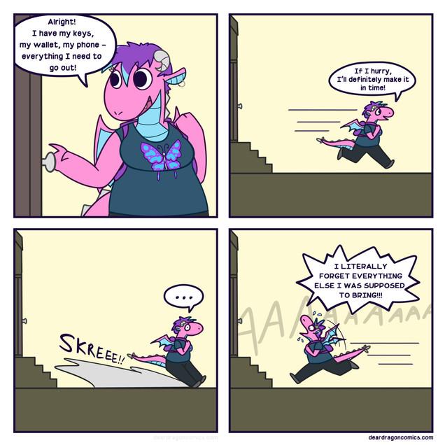 Dear Dragon Comic - Forgetful