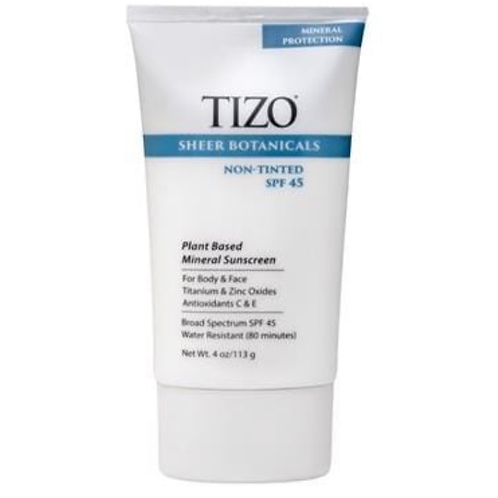 TiZO Sheer Botanicals Non-Tinted Plant Based Mineral Sunscreen SPF 45