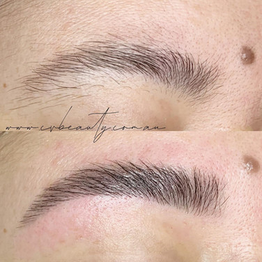 brow lamination and tint