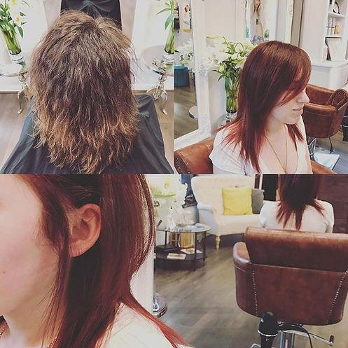 #haircolor #keratintreatment #beforeanda